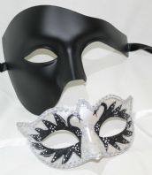 Black & White His & Hers Masks